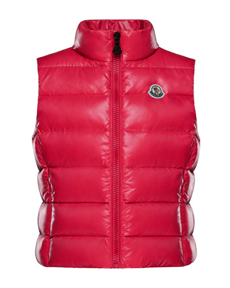 Ghany Quilted Zip-Front Vest, Size 4-6