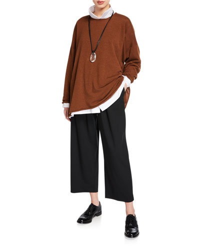 Cashmere A-Line Bateau-Neck Sweater and Matching Items