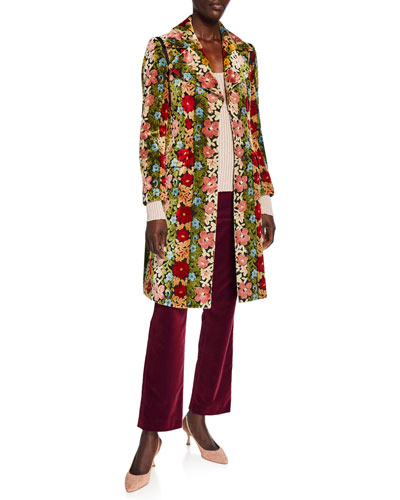 Carpet Floral Embroidered Coat and Matching Items