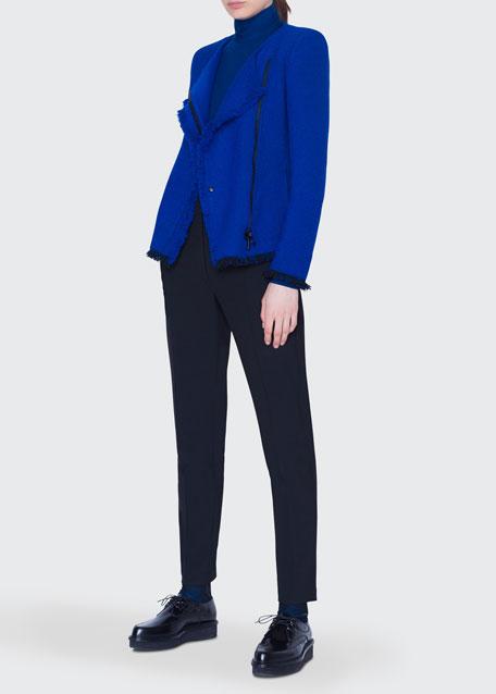Tweed Crewneck Jacket