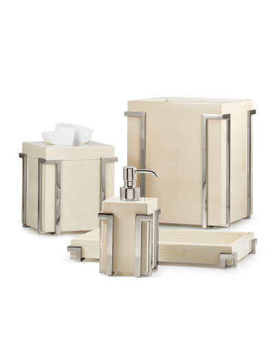 Embrace Ash Chrome Tissue Box Cover  and Matching Items