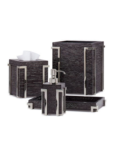 Embrace Oak Chrome Tissue Box Cover  and Matching Items