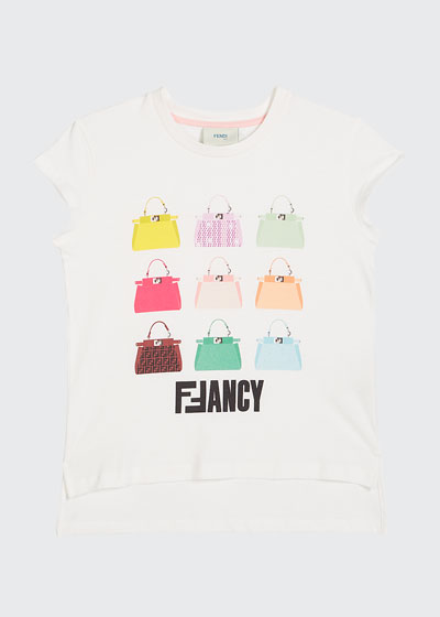Girl's FFancy Handbag Illustration Tee  Size 4-6  and Matching Items