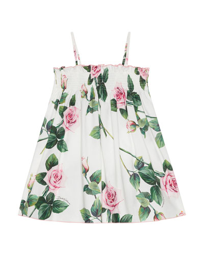 Girl's Tropical Rose Shirred Dress  Size 9M-6  and Matching Items