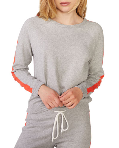 Vintage Raglan Crewneck Sweater w/ Side Straps