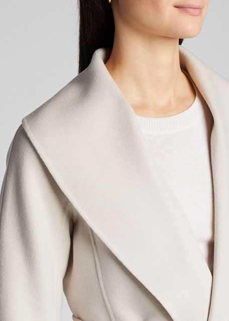 Virgin Wool Wrap Coat