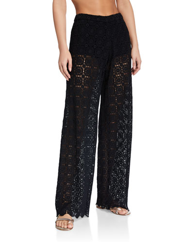 Inez Floral Lace Coverup Pants