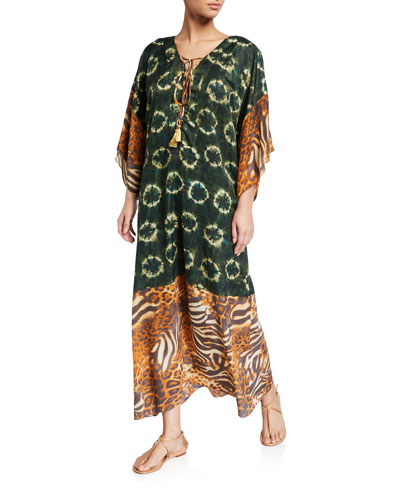 Zaire Printed Pullover Coverup Dress