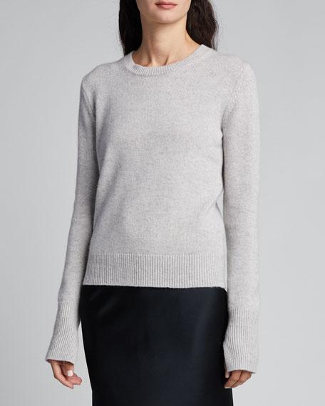 Crewneck Long-Sleeve Pure Cashmere Sweater