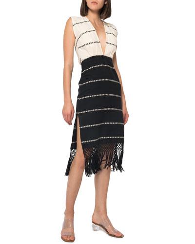 Yalitza Hand-Woven Open-Back Coverup Dress