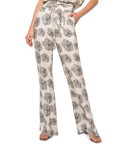 Lisa Self-Tie Floral Lounge Pants