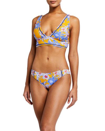Ibiza Floral Bikini Swim Top