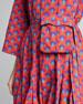 Ryan Geometric Print Belt-Bag Dress