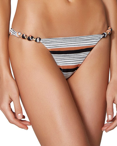 Ava Paula Striped Hipster Swim Bottom