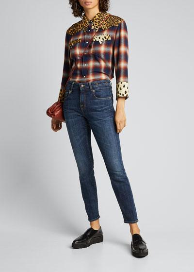 Mid-Rise Boyfriend Skinny Jeans
