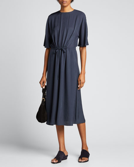 Image 1 of 1: Elbow-Sleeve T-Shirt Dress
