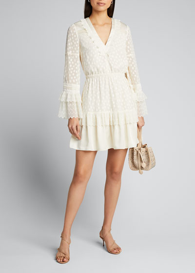 Katerina Ruffle Long-Sleeve Dress
