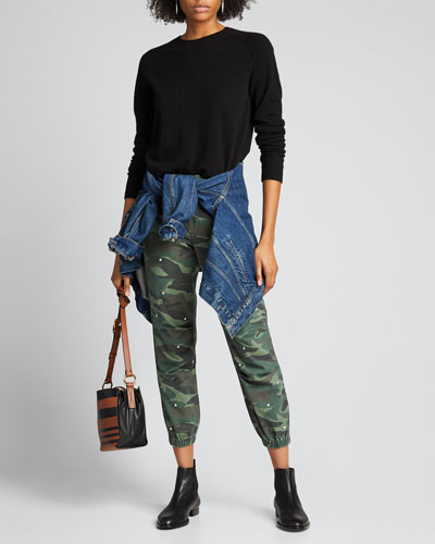 Stars No 95 Camo Zip Jogger Pants