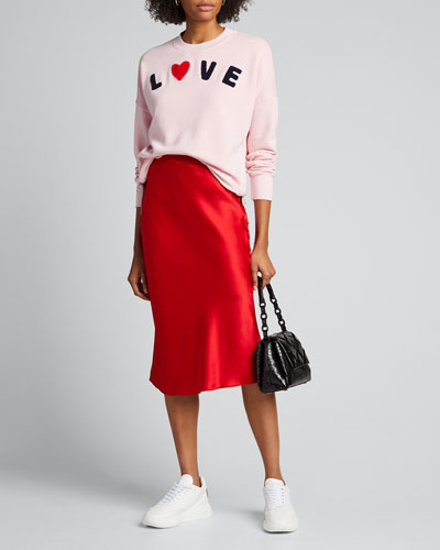 Love Double-Zip Oversized Sweatshirt