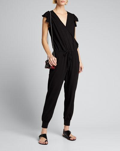 Flutter-Sleeve Jumpsuit