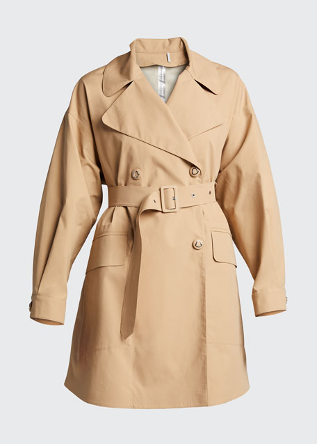 Lie Caban Double-Breasted Coat