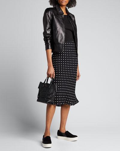 Addison Zip-Front Leather Jacket