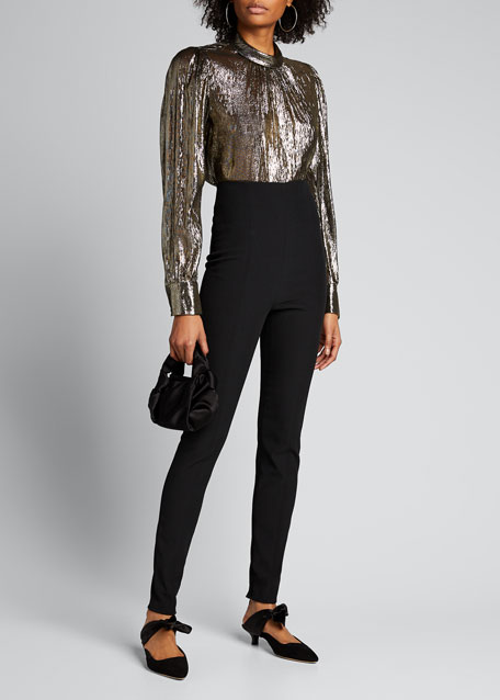 Image 1 of 1: Silvio High-Rise Skinny Pants w/ Zippers