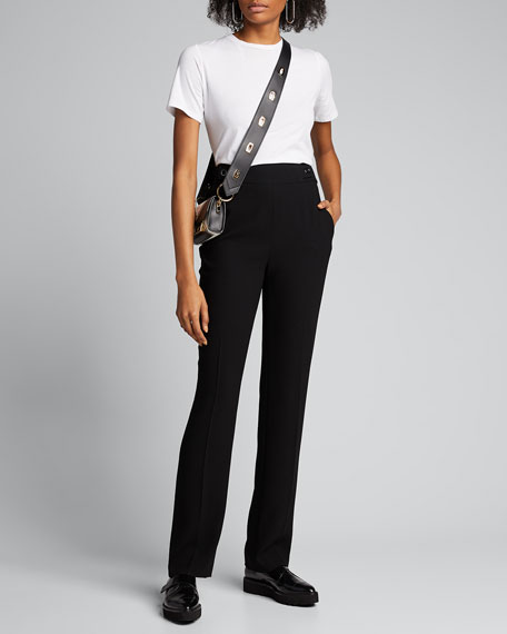 Image 1 of 1: Poppy Straight-Leg Crepe Pants