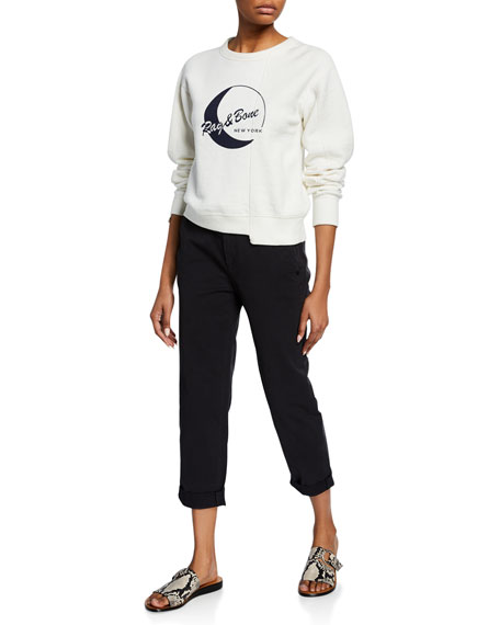 Buckley Cropped Mid-Rise Chino Pants