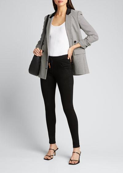 Le Skinny De Jeanne Corded Lace-Up Jeans