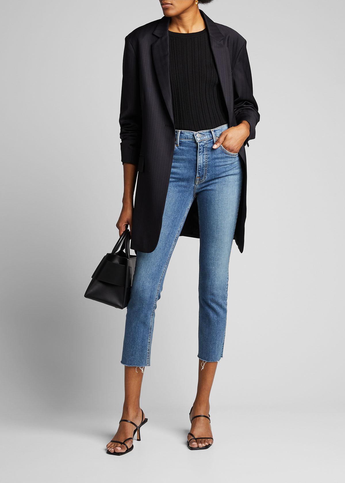 Grlfrnd Reed Cropped High-Rise Skinny Jeans