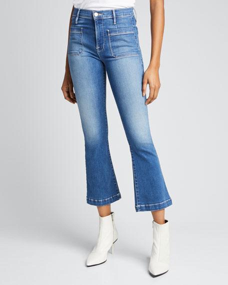 Le Bardot Cropped Flare Jeans