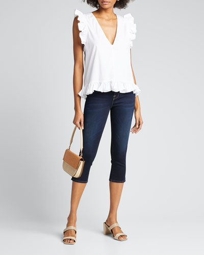 Le High Pedal Pusher Denim Jeans
