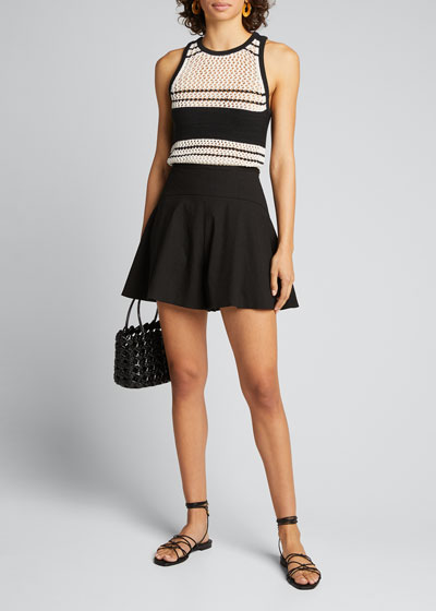 Open-Knit Striped Tank