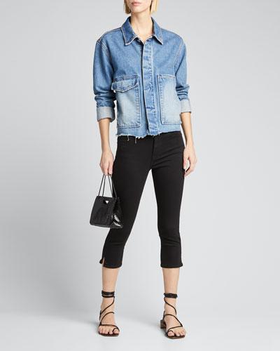 Le High Pedal Pusher Jeans  Black