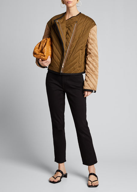 Quilted Colorblock Jacket