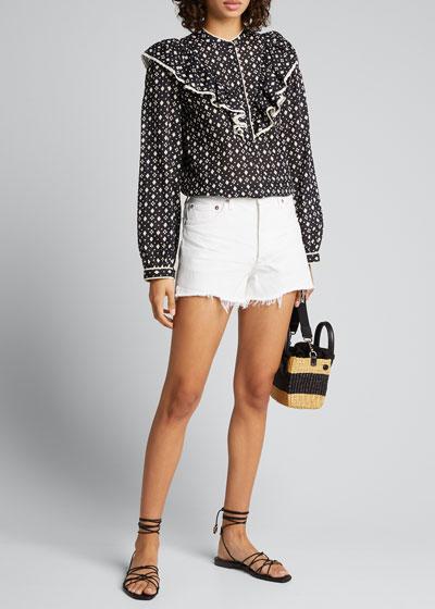 Parker High-Waist Cutoff Jean Shorts