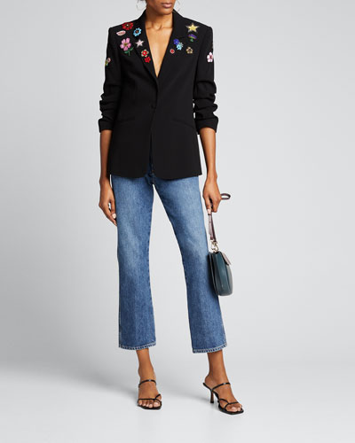 Kylie Flower Power Embroidered Jacket