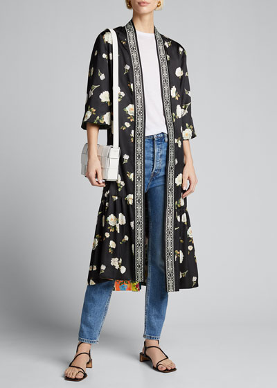 Dottie Printed Reversible Kimono