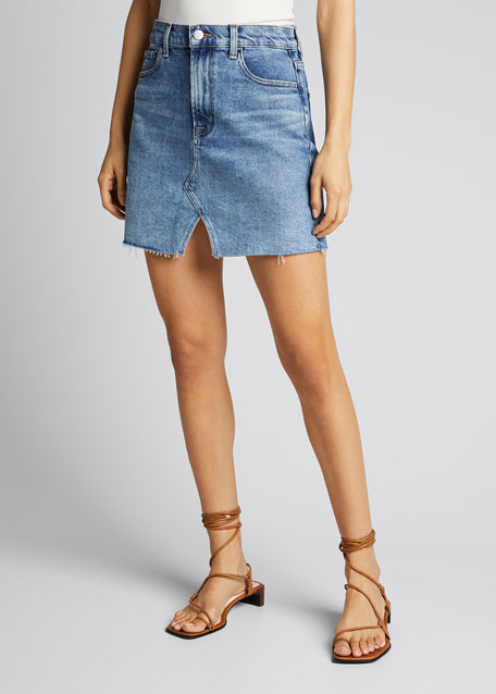 Jules High-Rise Denim Skirt