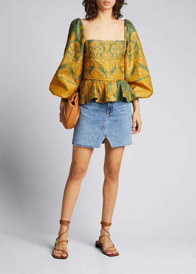 Jules High-Rise Denim Skirt