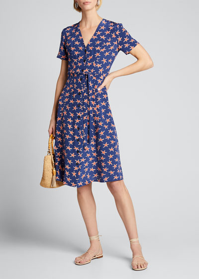 Rosemary Short-Sleeve Button-Down Dress