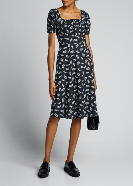 Image 1 of 1: Holland Bow Tie Cotton Dress