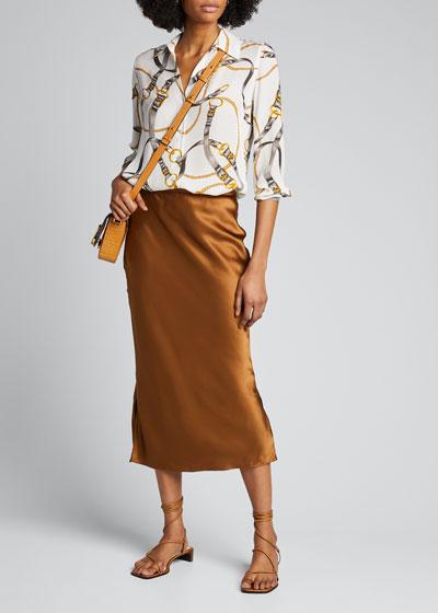 Nina Printed Long-Sleeve Blouse