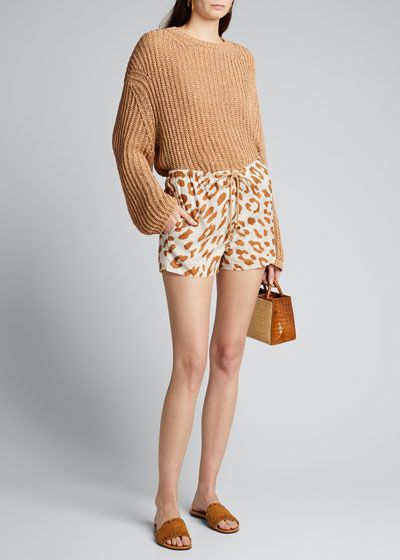 Febe Leopard-Print Shorts