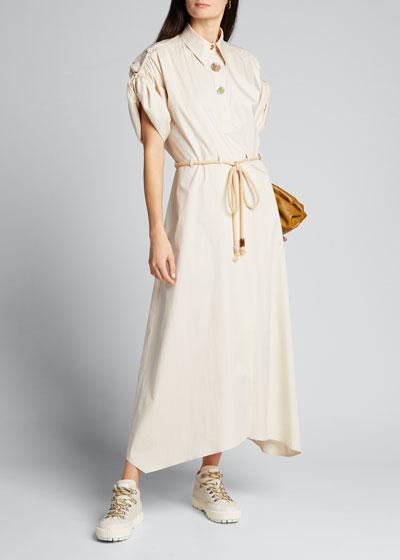 Hanna Collared Short-Sleeve Dress