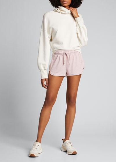 Divine Heathered Drawstring Shorts