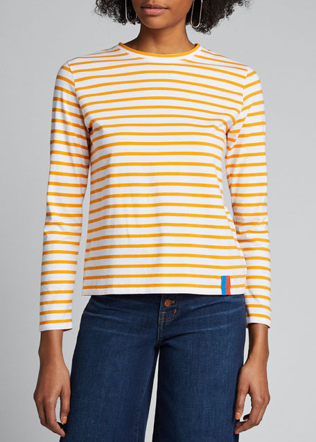 The Modern Long-Sleeve Striped T-Shirt