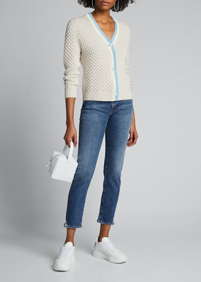 The Lainey Textured Button-Front Sweater