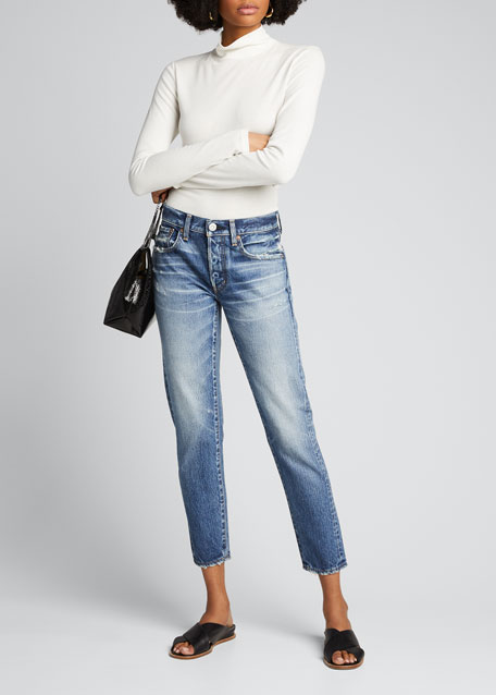 Image 1 of 1: Vienna Tapered Mid-Rise Jeans